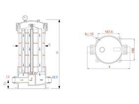 Kućište multipatron filtera HPCF-5x40SL  50700